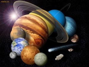 планета, Плутон, Нептун, Уран, Сатурн, Юпитер, Марс, Венера, Меркурий, Луна, Солнце